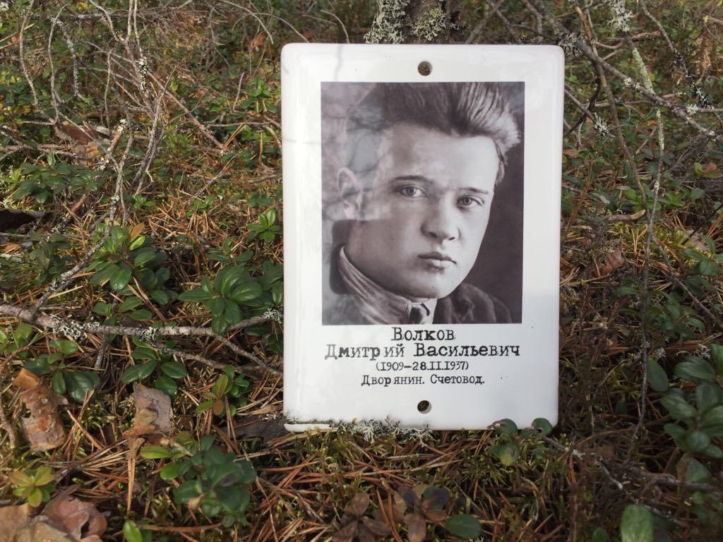 Памятная табличка Д. В. Волкову. 2019 год