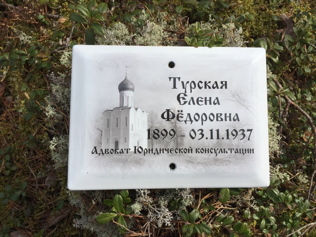 Памятная табличка Е. Ф. Турской. 2019 год