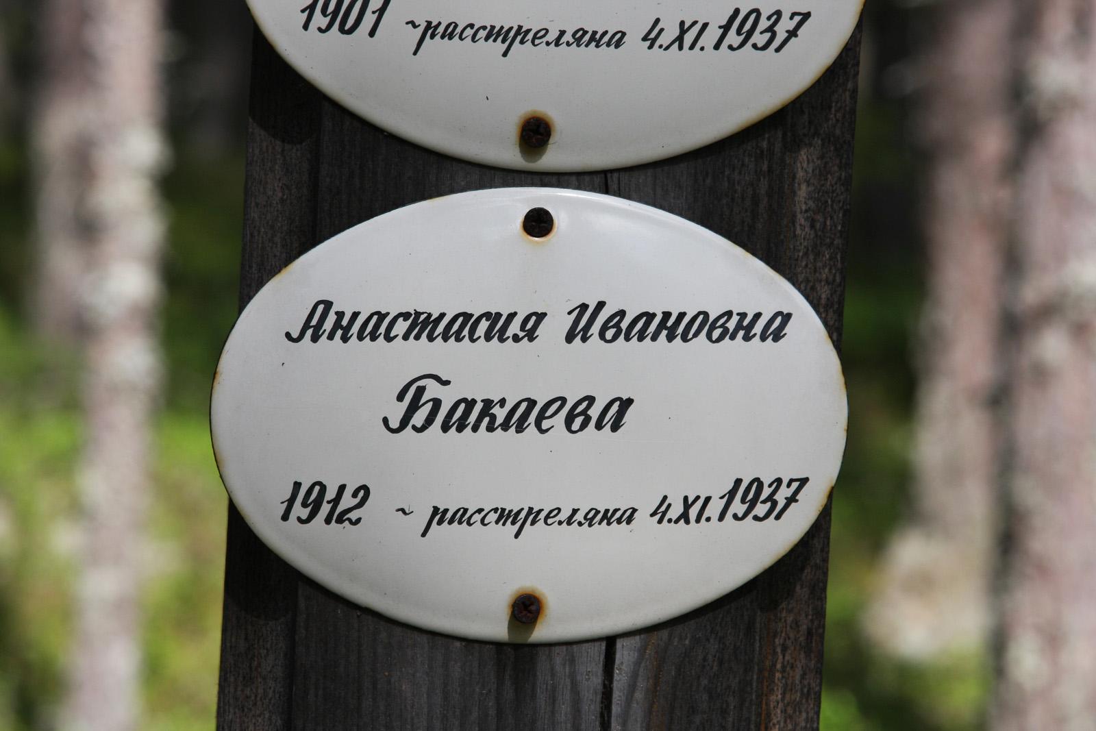 Памятная табличка Анастасии Ивановне Бакаевой. Фото 4.08.2011
